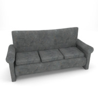 old couch 3d model