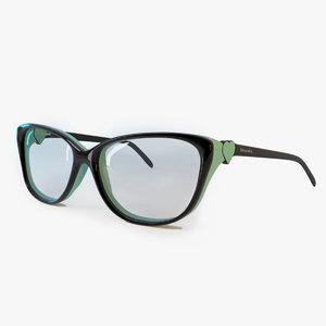 eyeglasses tiffany glasses c4d