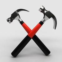 hammers wall obj free