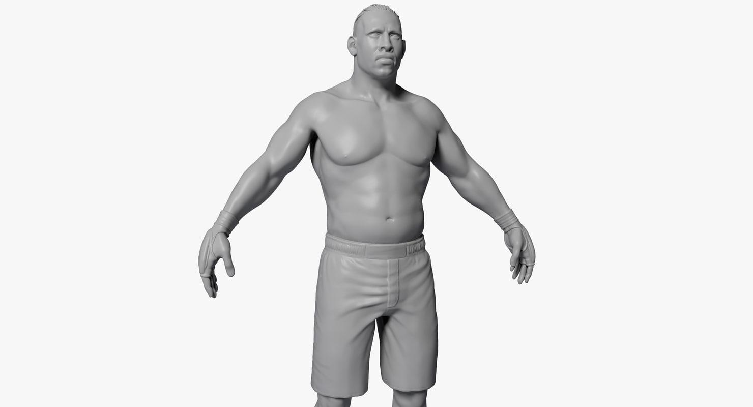 ufc boxer 3d model