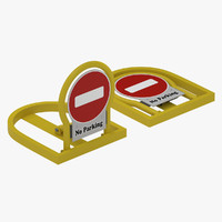 3d model manual parking lock barrier