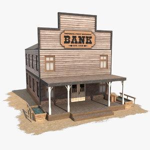 wild west bank 3d model