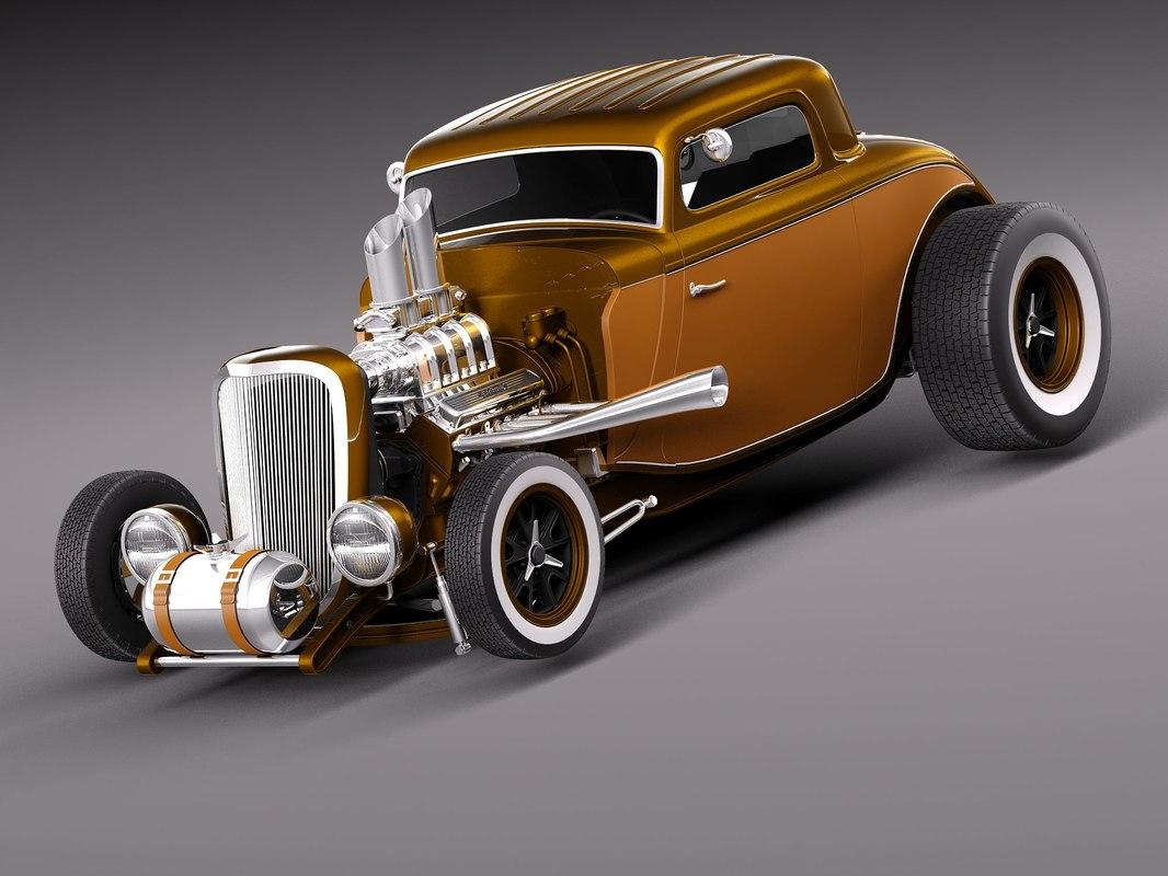 3d model 1934 34 hot