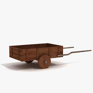 3d model - medieval cart