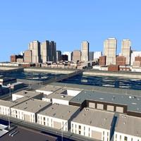 cityscape scene highrise 3d model
