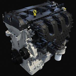 3d model escape engine modeled