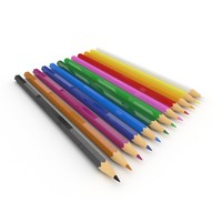 coloured pencils 3d max