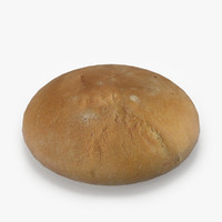 realistic white wheat bread 3ds