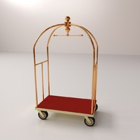 3d hotel luggage cart
