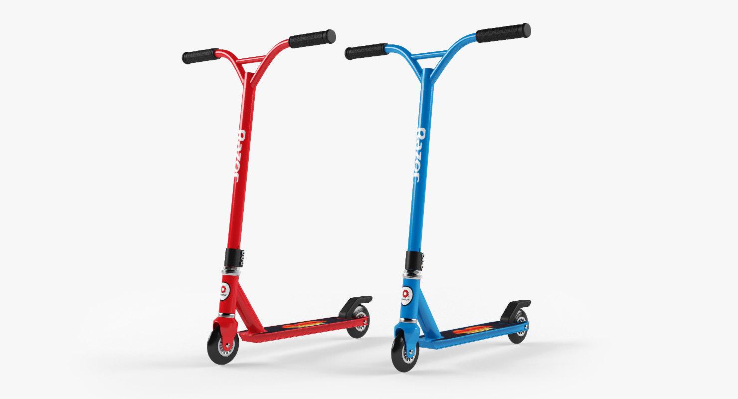 3d scooter razor beast model