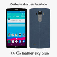 LG G4 Leather sky blue