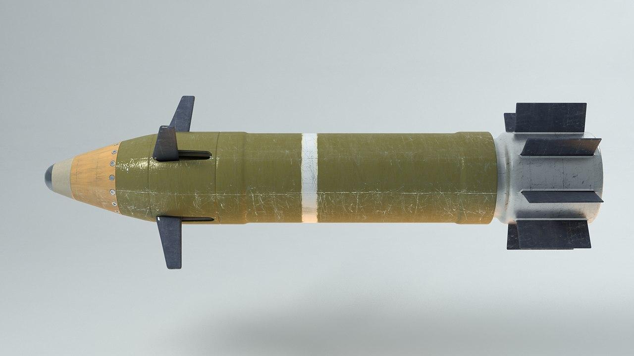 3d model guided artillery shell