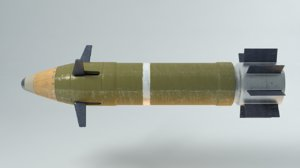 3d model guided artillery shell