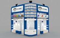 3d fair stand exhibition - model
