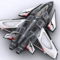 3d sci-fi fighter model