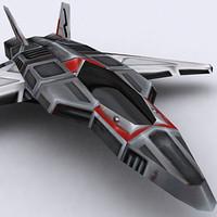 3ds max sci-fi fighter