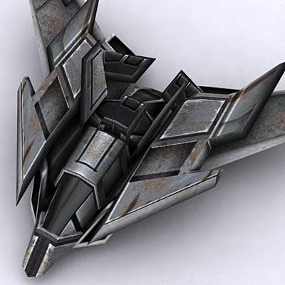 3d sci-fi fighter 7 model