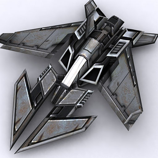 sci-fi fighter 3d model