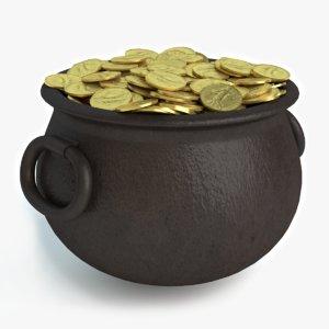 3d pot gold model