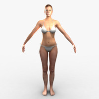 3d model cammie realistic female character