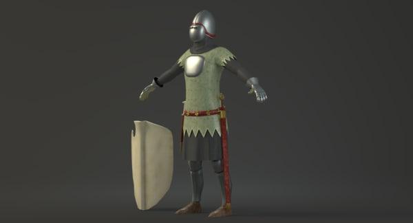 14th century german knight 3ds