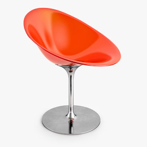 3d kartell ero swivel armchair model