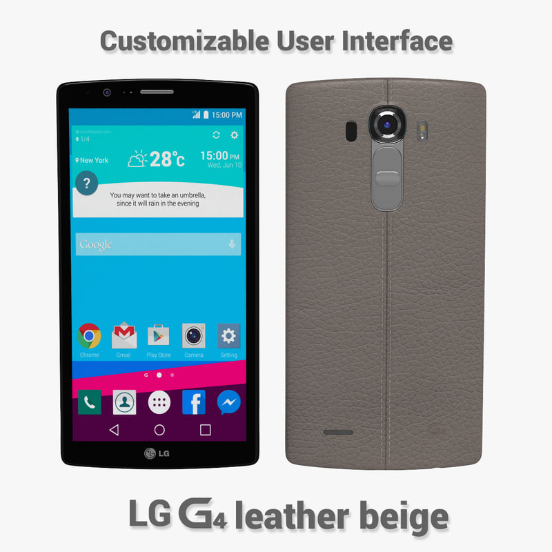 3d lg g4 leather model