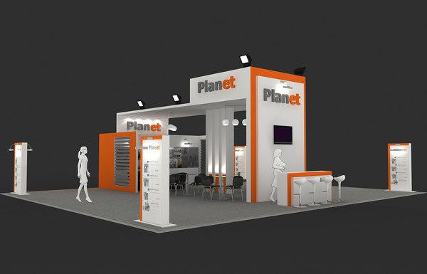 3d max fair stand exhibition