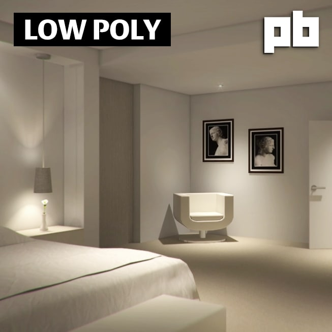 3d bedroom pack model
