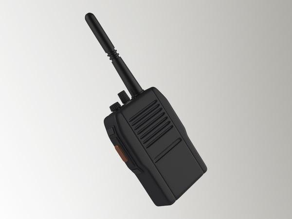 3d model walkie talkie