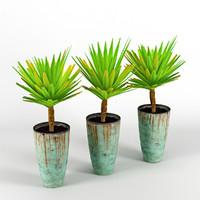 palm trees 3d model