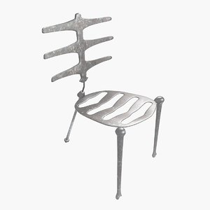 3d model chair skeleton