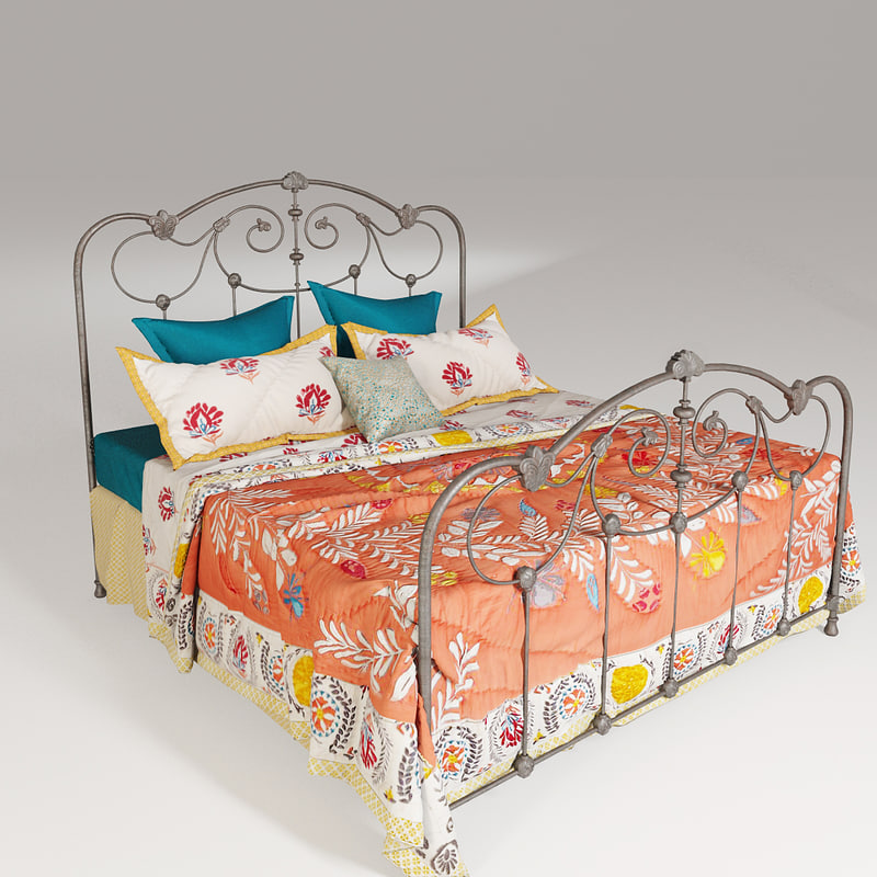 3ds max anthropologie lydia bed