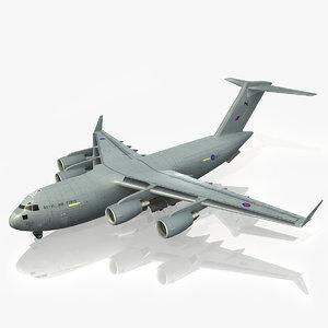 3d c-17 globemaster iii model