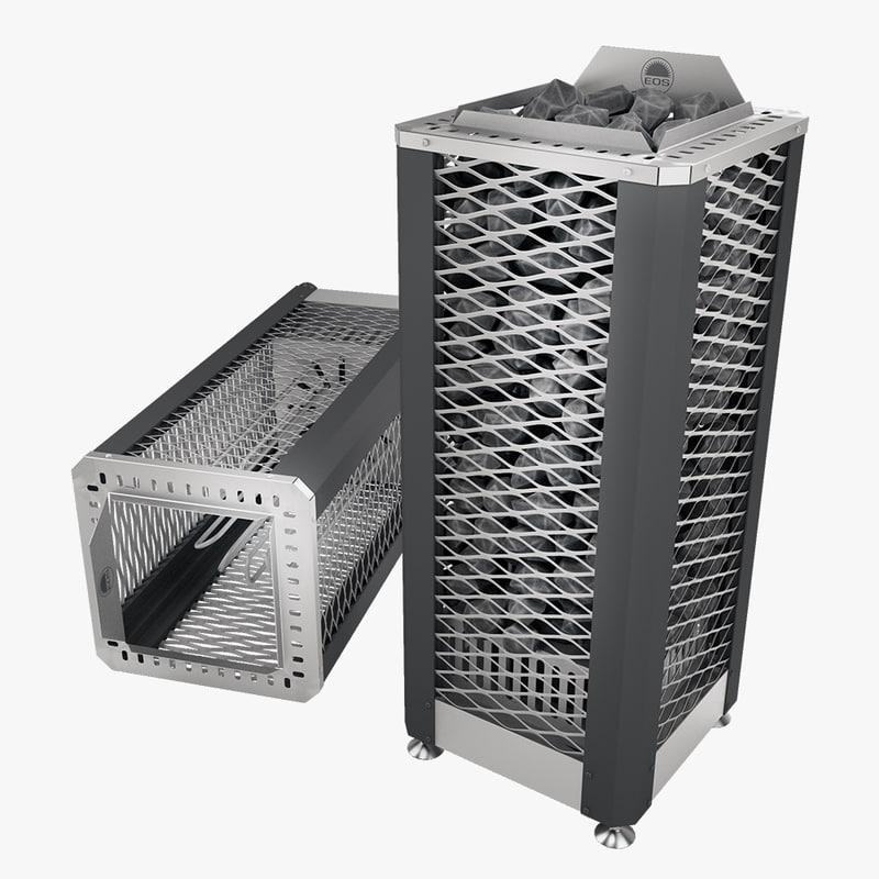 eos saunadome 2 sauna 3d model
