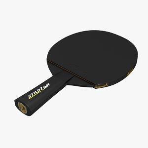 ping pong paddle 3d max