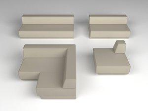 modular sofa 3d max