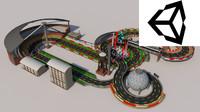 3dsmax polys race track racetrack