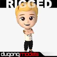 Rigged Cartoon Boy