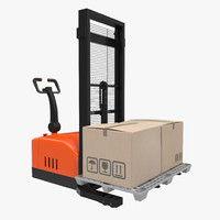 3ds electric walkie stacker pallet