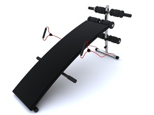 3d exercise equipment equipme model