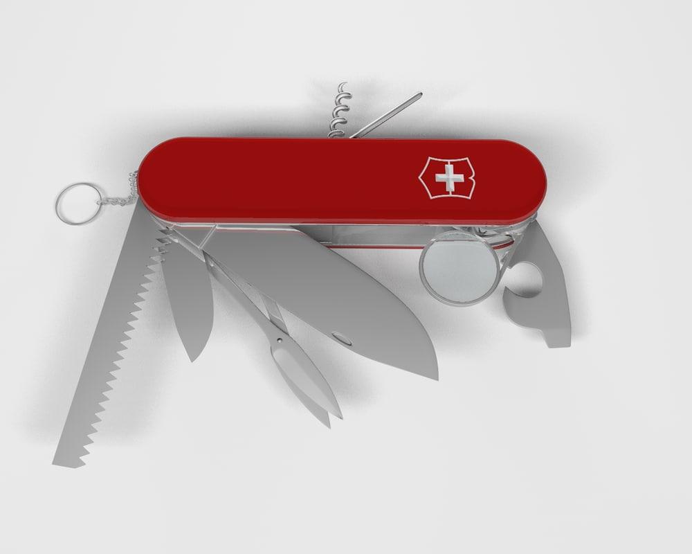 3d model swiss knife