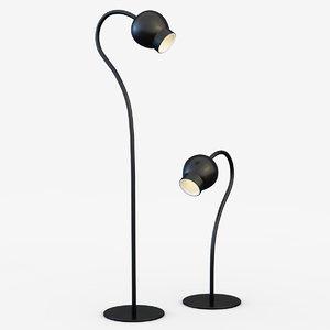 3d lamps floor cosmo ml21270-1-150 model