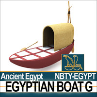 3d model ancient egypt boat g