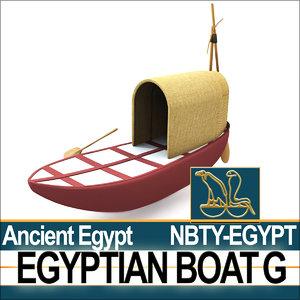 3d model ancient egypt boat g
