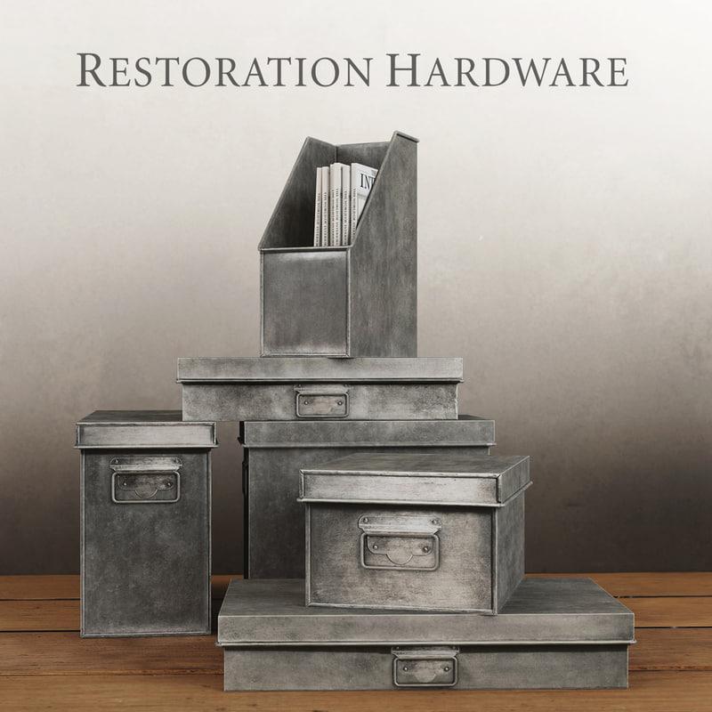 industrial metal office storage 3d model