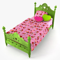 3d model doll bed