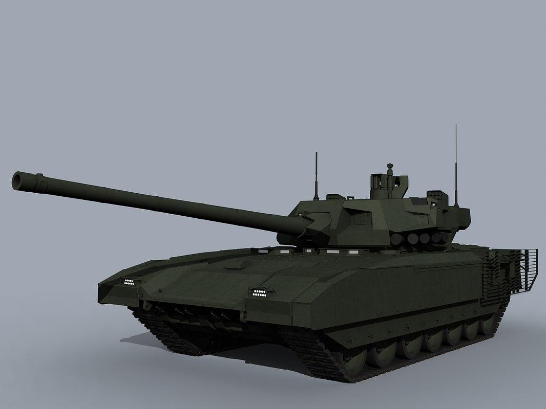3d t-14 russian tank armata
