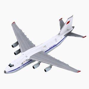 3d model antonov an124 aeroflot