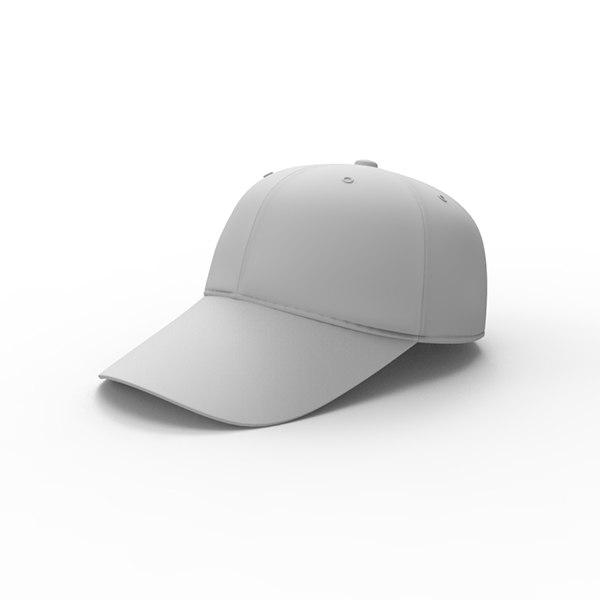 cap hat 3d max